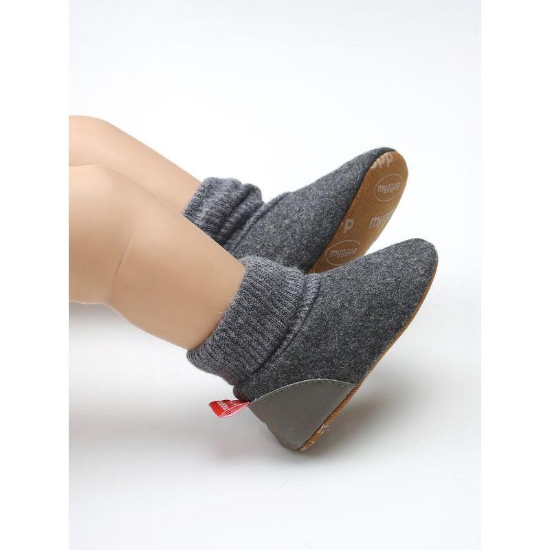 Warm Fleece-lined Sock Boots  Unisex Baby Crochet Knitting First Walkers Shoes