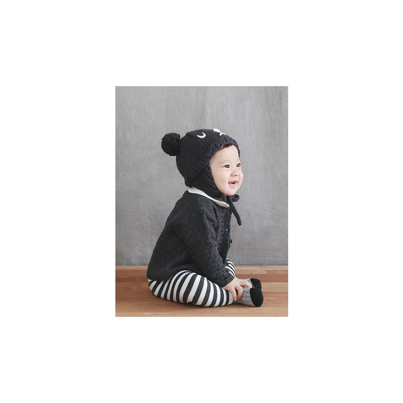 Adorable Baby Boys Girls Bear Knitted Beanie Hat with Double Pom Pom c88d73c32747
