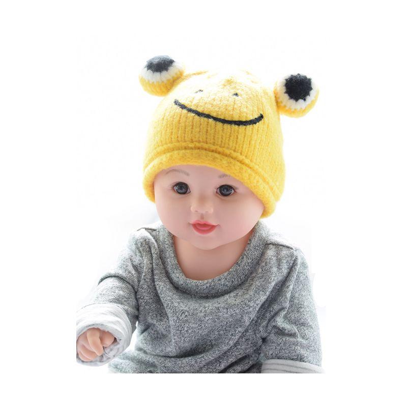 Infant Boys Girls Frog Knit Beanie Hat for Winter