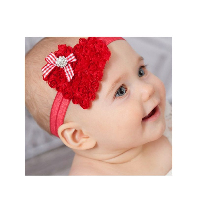 Christmas Love Flower Trimmed Headband Xmas Baby Toddler Girls Hair Accessory