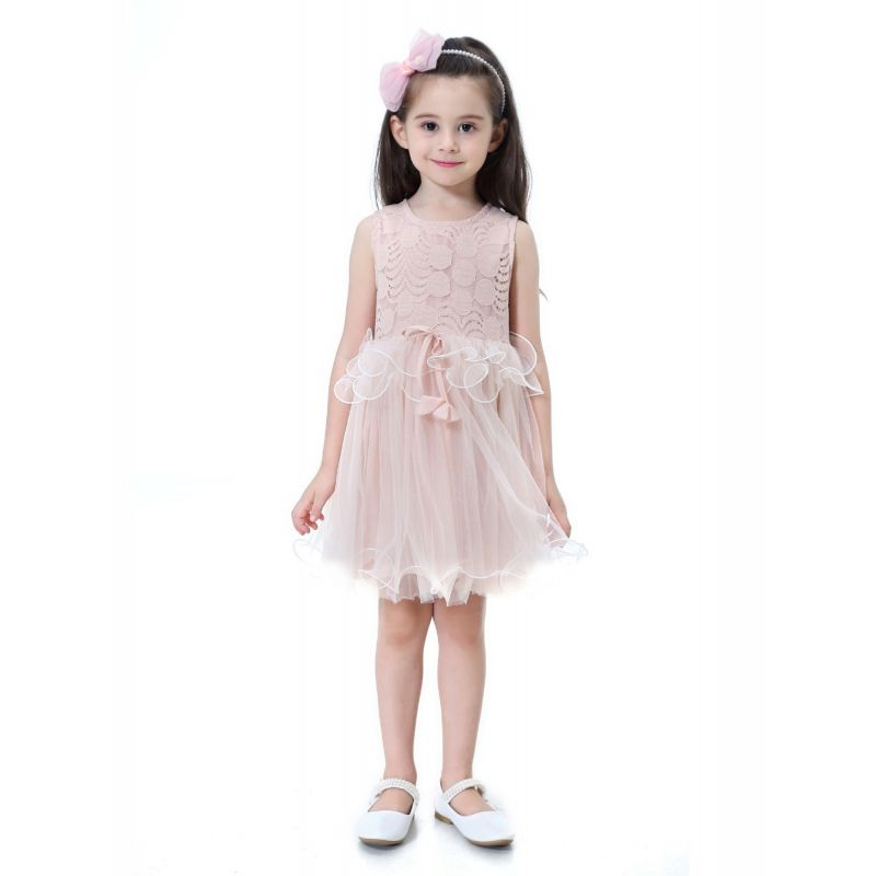 Spanish Style Sleeveless Lace Tulle Dress Princess Summer Dress