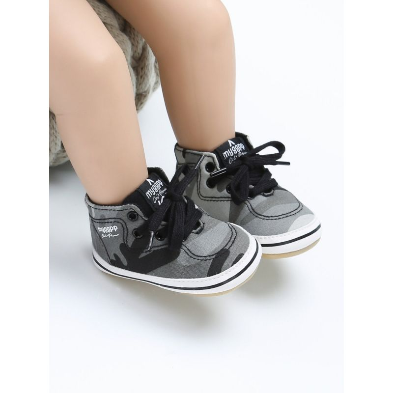 Fashion Baby Boys Girls Cloth Shoes Infant Ankle Rubber Soled Shoes