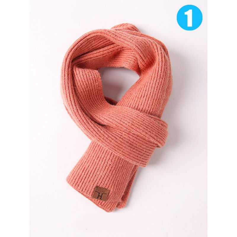 Solid Color Infant Boys Girls knitted Scarf Children Winter Outdoor Muffler