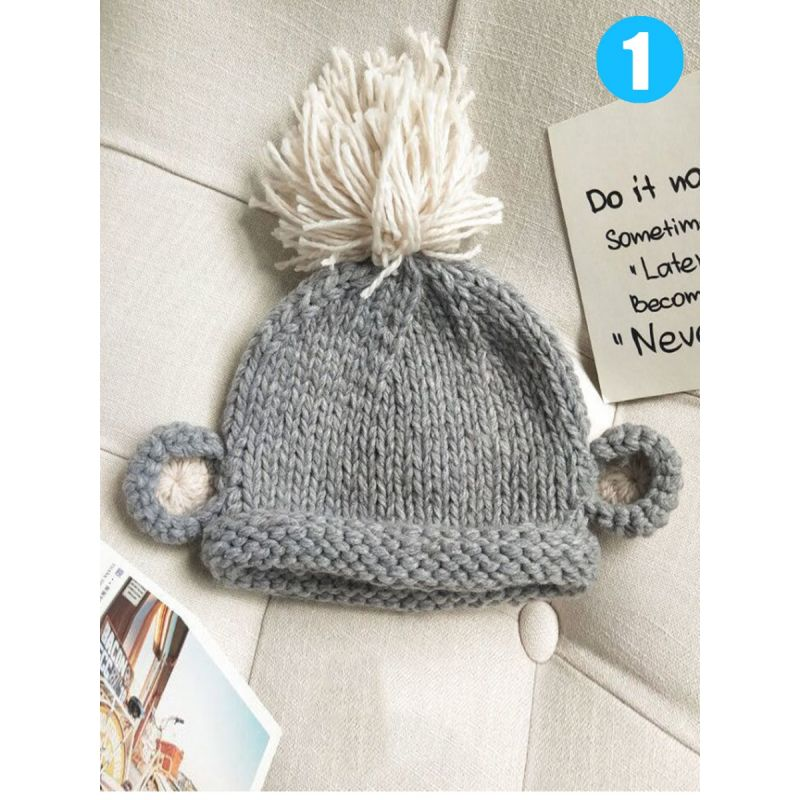 Adorable Cartoon Animal Ear Style Knitted Hat for Baby Toddler Boys Girls