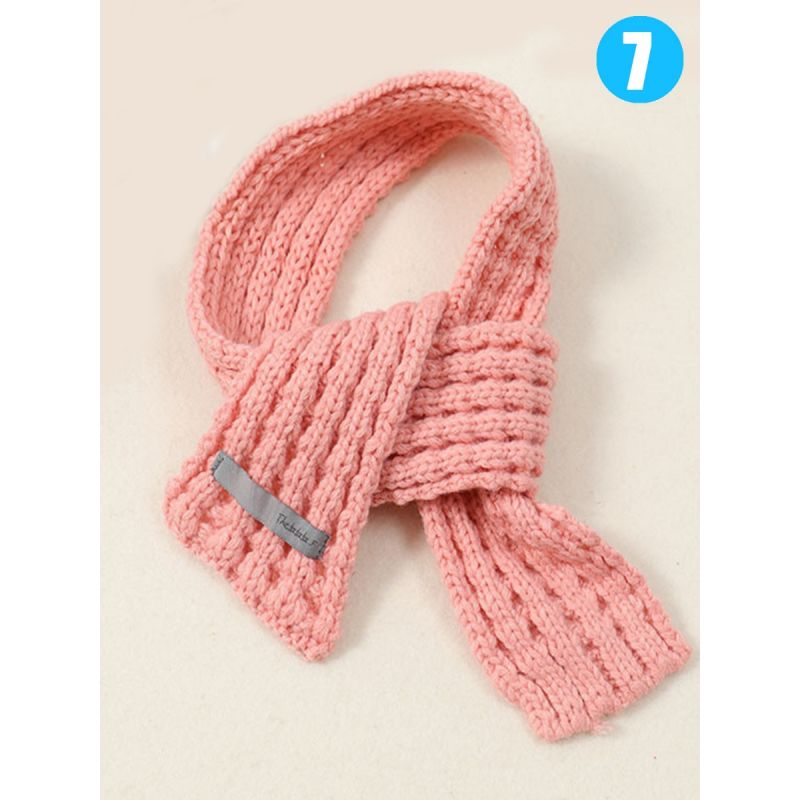 Fashion Solid Color Baby Kids Knitted Scarf