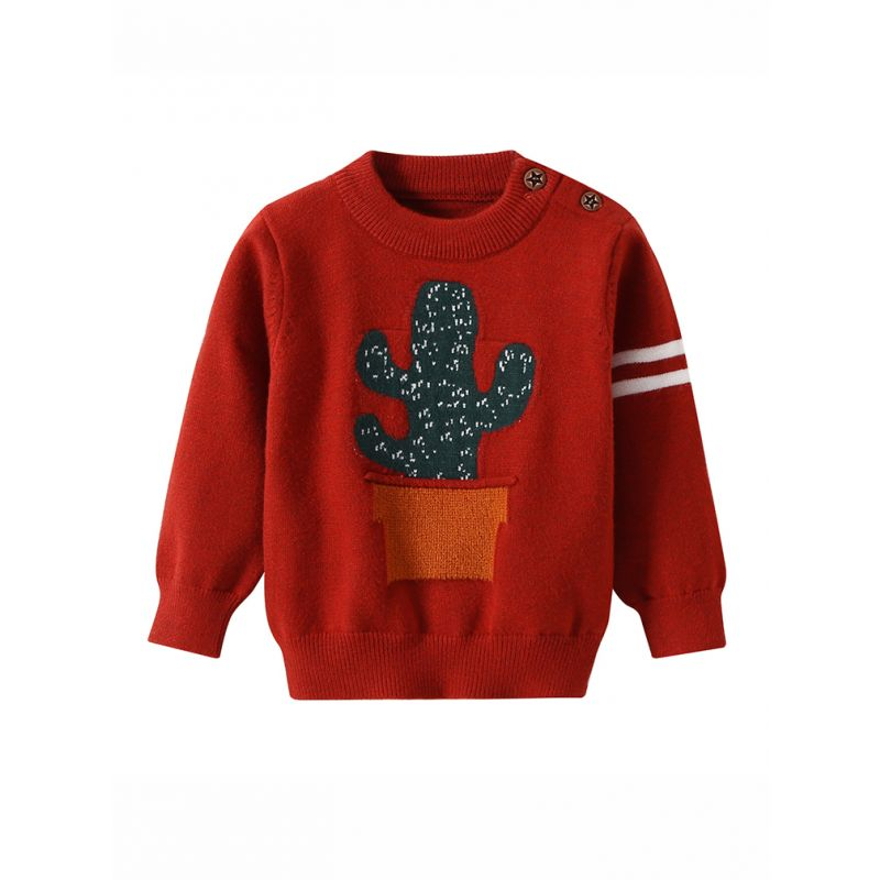 439900e30763 Wholesale Cactus Knitted Baby Sweater Classic Screw