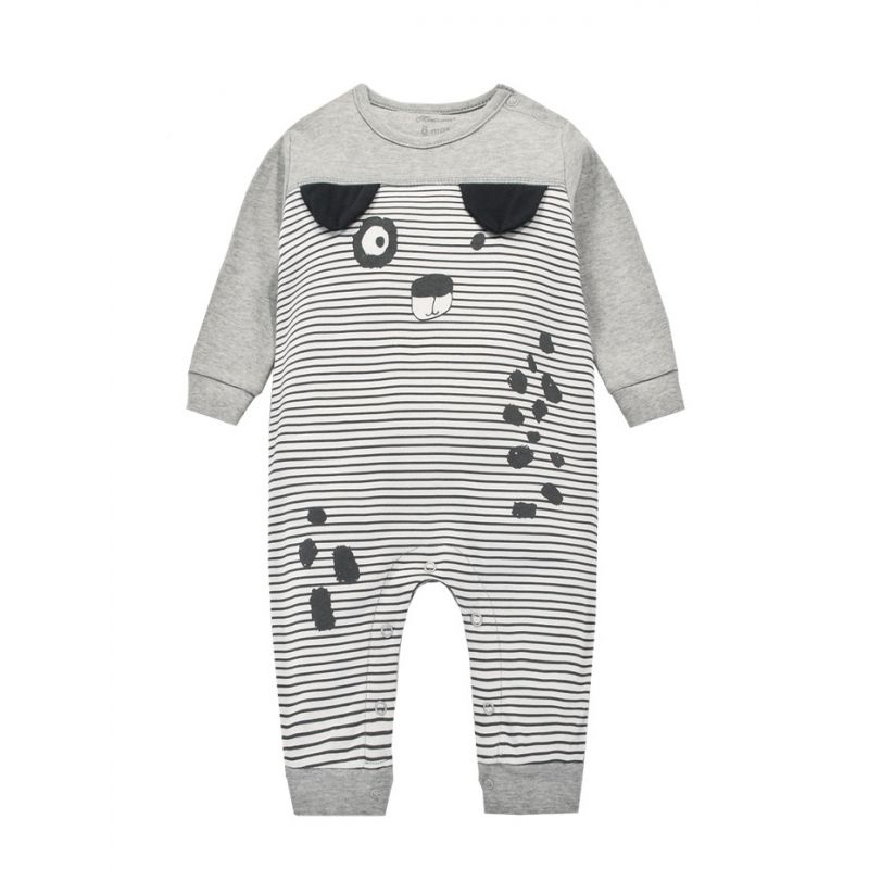Cartoon Dog Newborn Infant Romper Cotton Baby Pajama Long Sleeve
