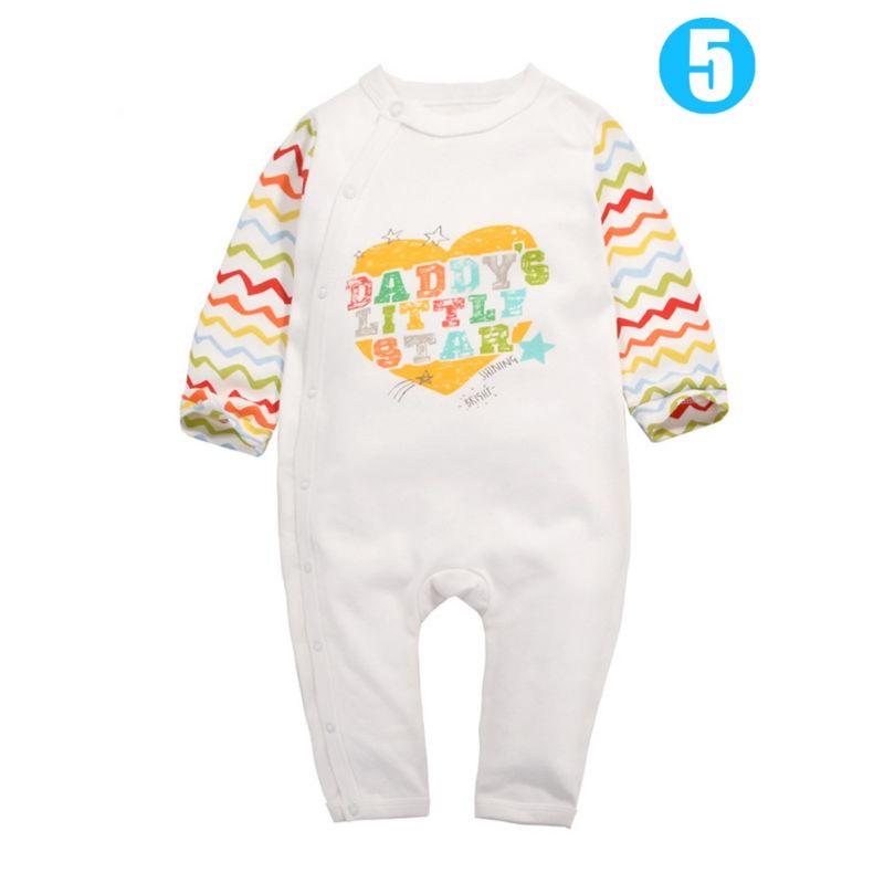 Mummy Daddy Letters Pirnt Newborn Baby Romper Pajama