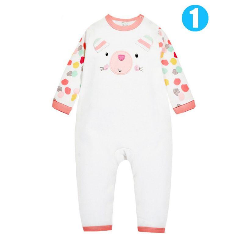 Cartoon Animal Newborn Infant Cotton Romper Buttoned Pajama