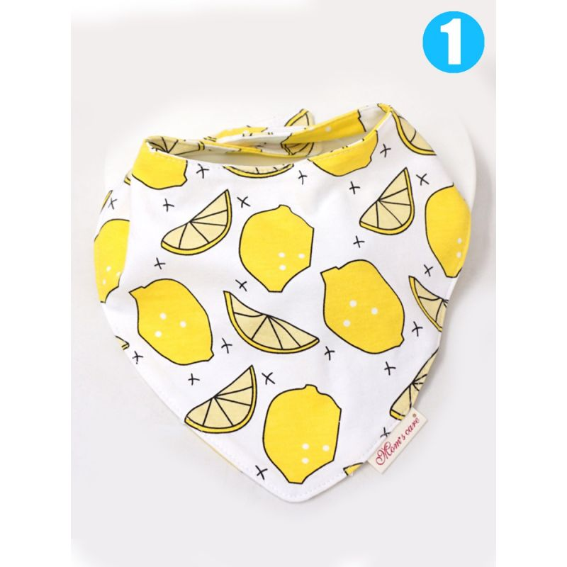U Shape Fruit Print Double Layer Baby Feeding Bib