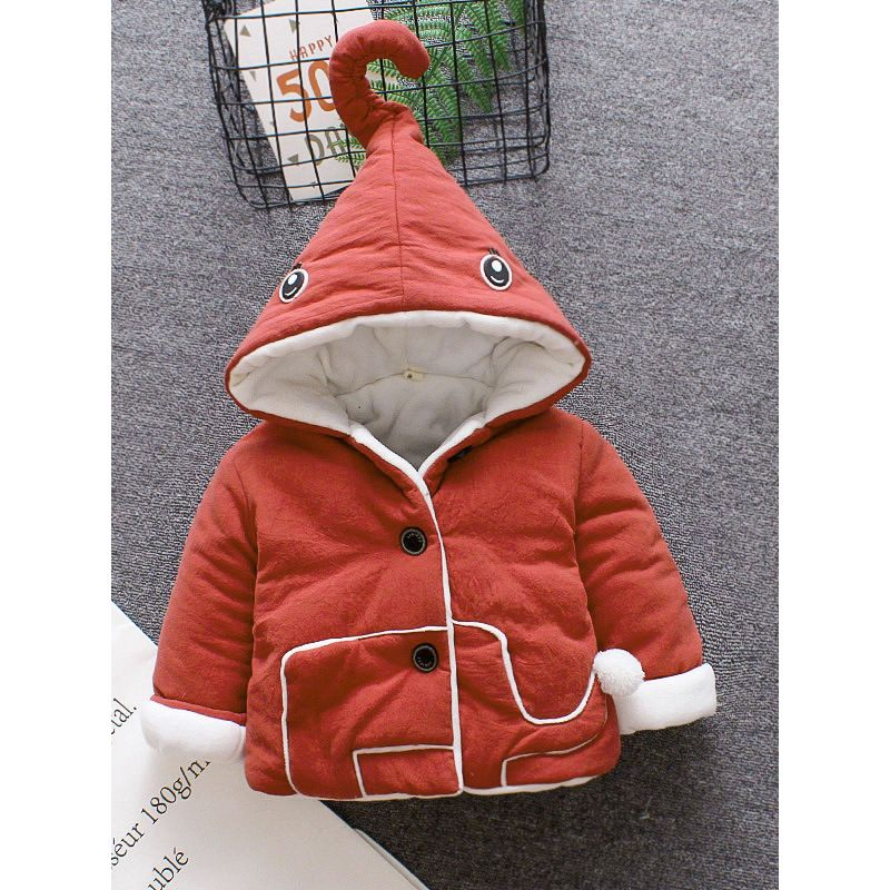 Cute Elephant Style Hooded Padded Coat Baby Boys Girls Winter Clothes Outwear