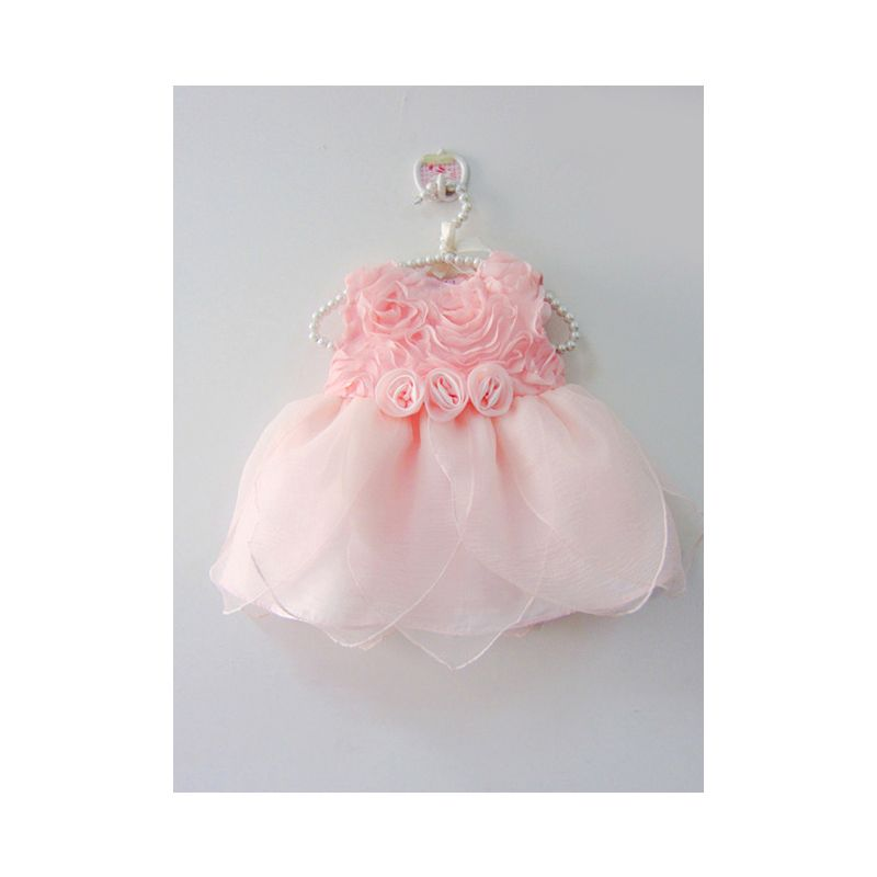 Spanish Style Flower Princess 1st Birthday Frock Dress Baby Girl Summer Party Dress Pink
