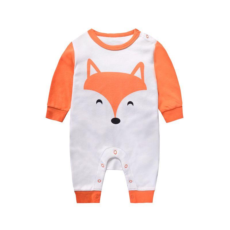 Cute Fox Cotton Newborn Baby Romper Onesie Infant Boys Girls Pajama