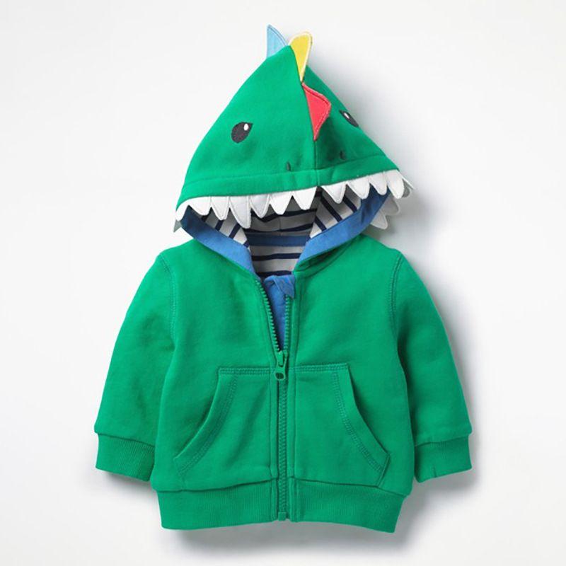 Cute Cartoon Shark Hoodie Jacket with Kangaroo Pocket Baby Kids Sweatshirt