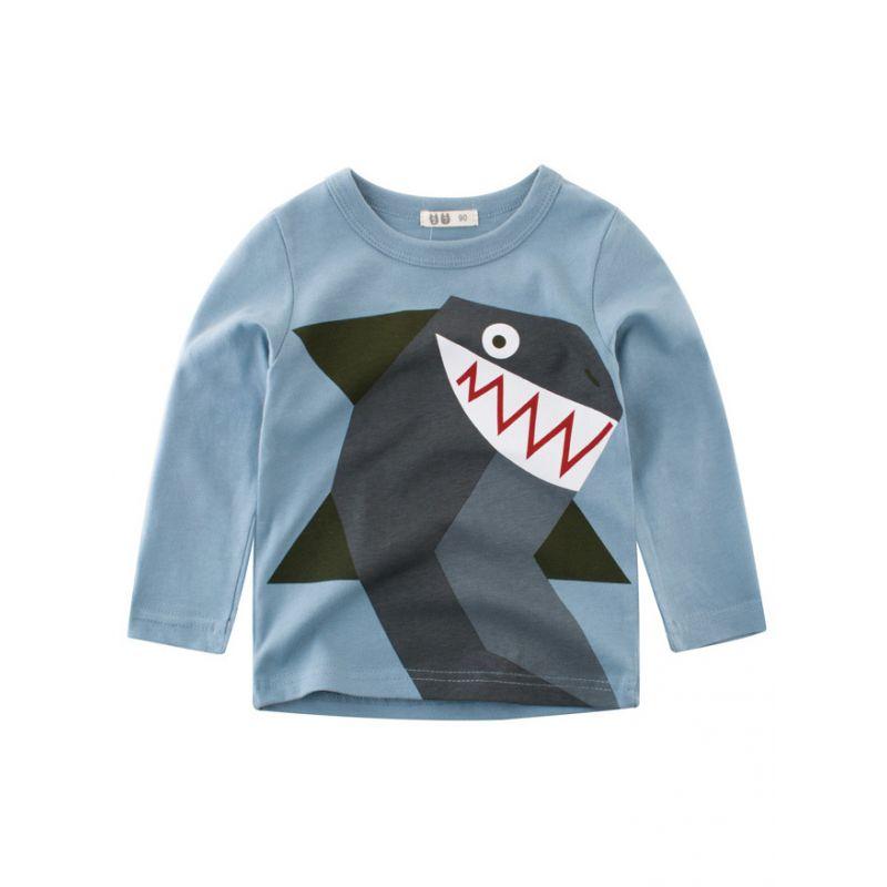 Toddler Boys Kids Cartoon Cotton T-shirt Homewear