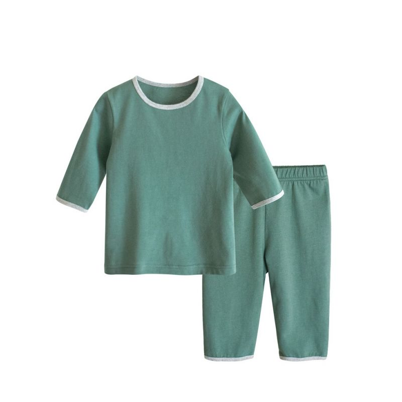 2PCS Unisex Toddler Kids Pajama Homewear Set T-shirt Top+Long Pants