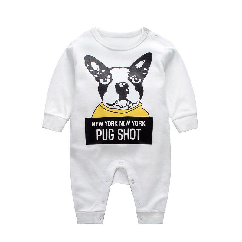 393cf9772 Wholesale NEW YORK PUG SHOT Newborn Baby Romper Infant