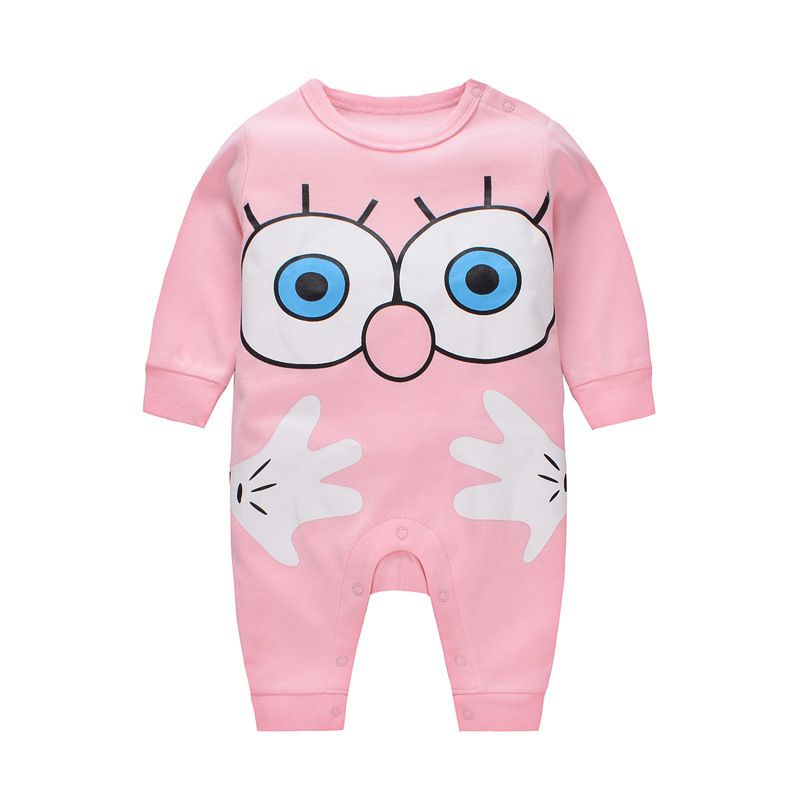 Cartoon Big Eyes Palm Newborn Infant Pajamas Cotton Nightclothes Romper