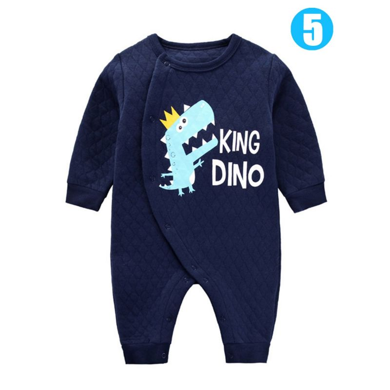 Cute Cartoon Animal Newborn Infant Romper Jumpsuit Dino/Sheep/Bear/Panda/Dog