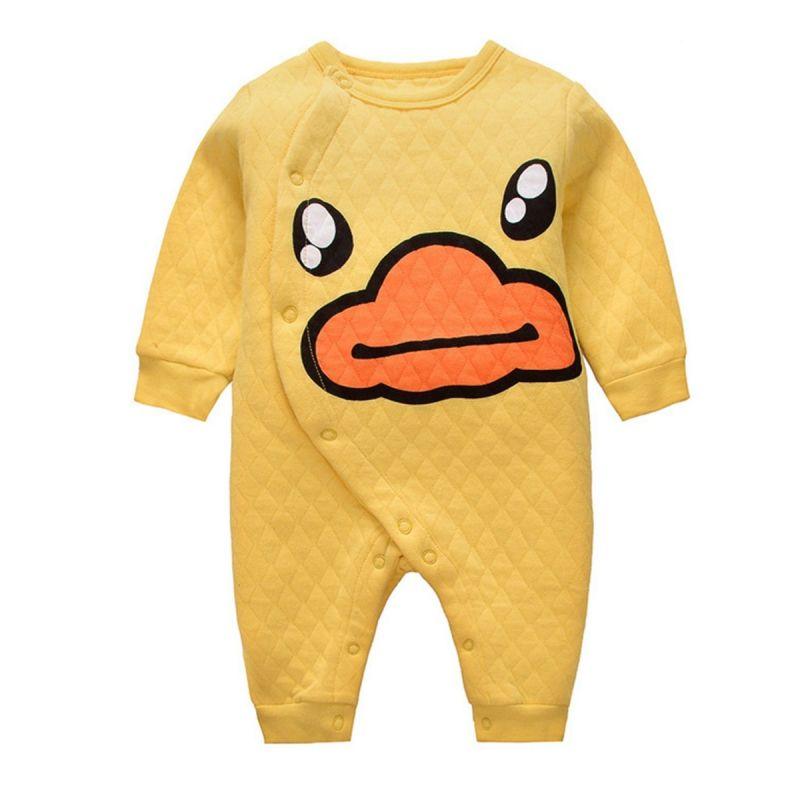 Winter Yellow Duck Newborn Baby Romper Jumpsuit