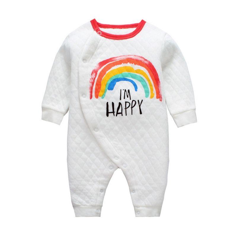 Sailboat/Rainbow/I LOVE MAMA Newborn Infant Jumpsuit Romper Baby Winter Pajama