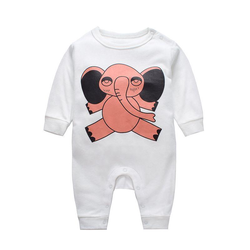 Elephant Newborn Baby Romper Onesie Cotton Infant Pajamas
