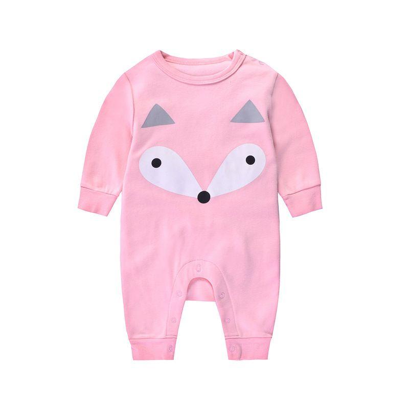 Cartoon Animal Newborn Infant Jumpsuit Romper Cotton Baby Pajama