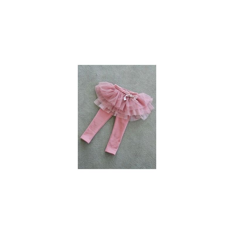 Toddler Girl Fleece-lined Bow Leggings Pants Kids Bow Tulle Legging Skirts Pantskirt