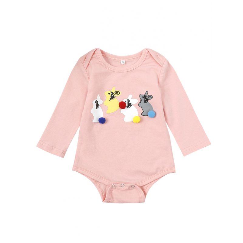 Cute Bunny Infant Romper Onesie Spring Baby Bodysuit