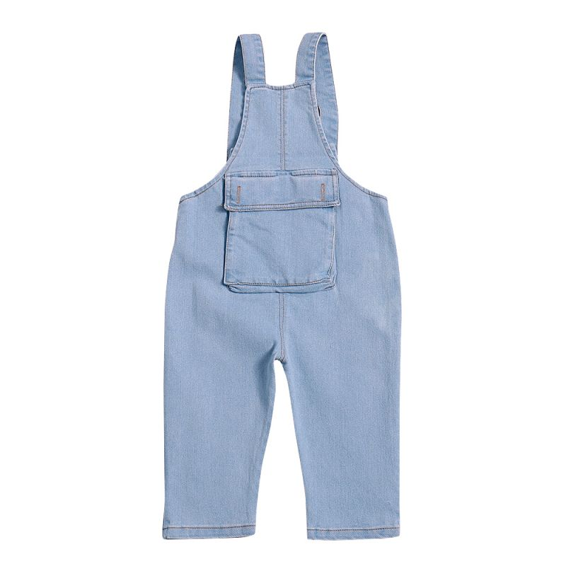 Baby Toddler Kids Overall Jeans Suspender Denim Trousers