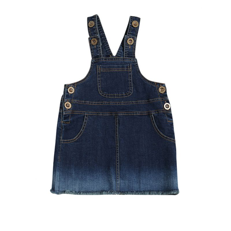 Fashion Baby Toddler Girl Overall Denim Dress Casual Suspender Dress