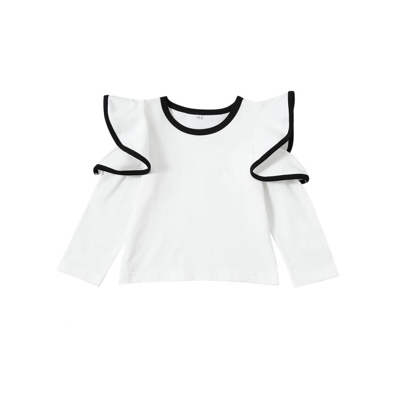 Fashion Ruffled Baby Toddler Girl Shirt Top for Spring Autumn