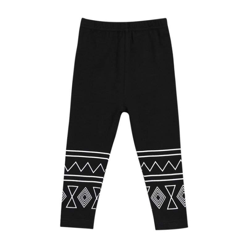 Geometric Pattern Baby Toddler Girl Leggings Kids Casual Pen Trousers