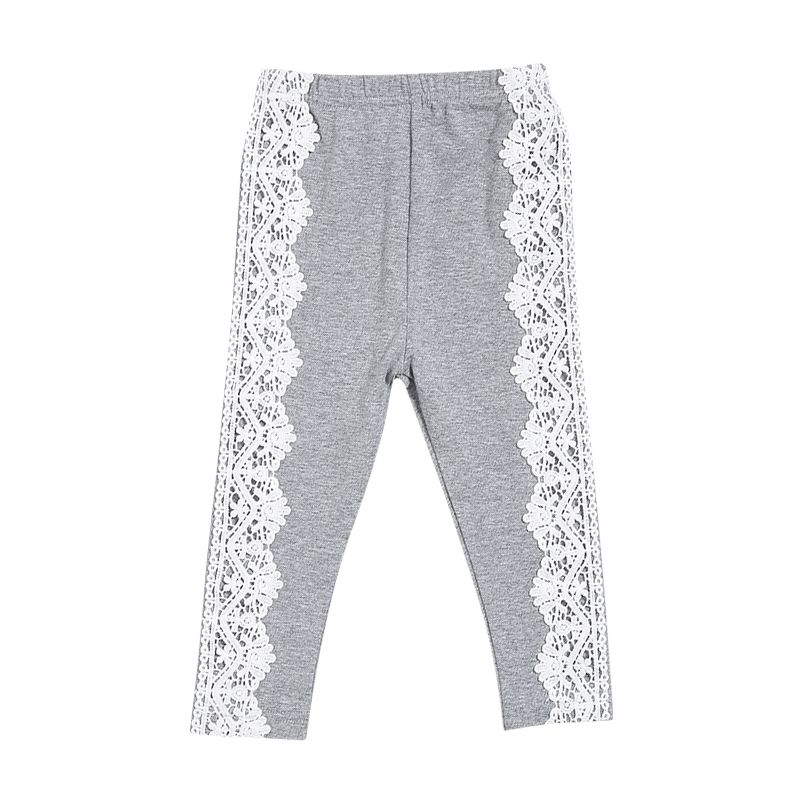 Floral Lace Pierced Leggings Infant Toddler Girl Casual Pen Trousers