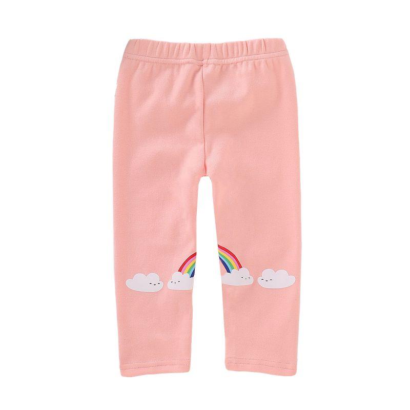 Adorable Cloud Rainbow Pink Leggings Toddler Girl Kids Pants