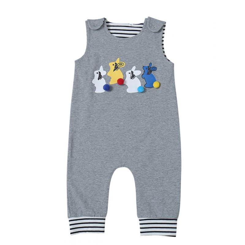 95b5c3349c43 Wholesale Cute Bunny Infant Jumpsuit Baby Boys Girls