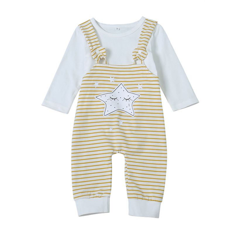 Cute Star Striped Baby Jumpsuit Infant Spring Romper