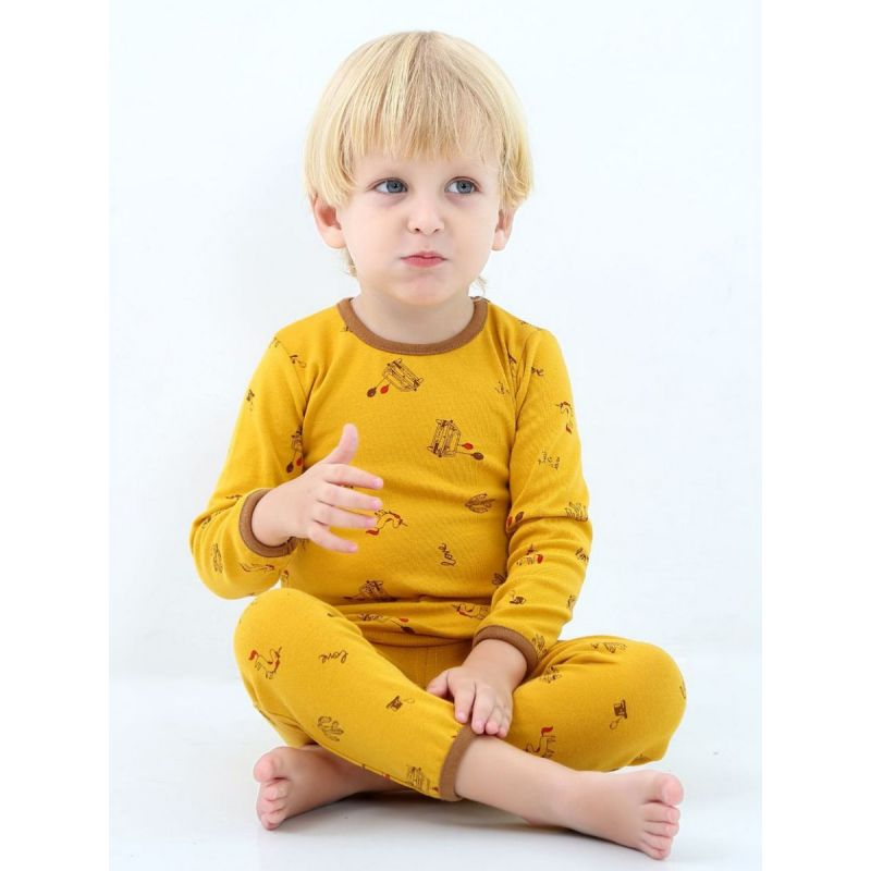 5SETS/PACK Toddler Kids Cotton Pajama Homewear Set Cartoon Pullover T-shirt Top+Pants