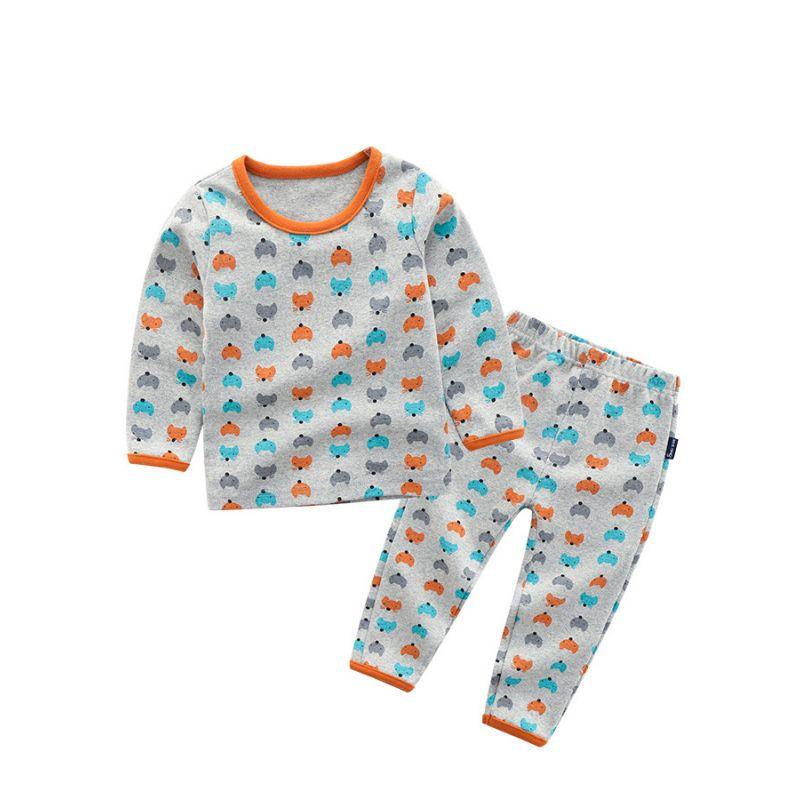 5SETS/PACK Toddler Big Boy Girl Cartoon Fox Casual Homewear Pajama Set Long Sleeve Pullover Shirt+Long Pants