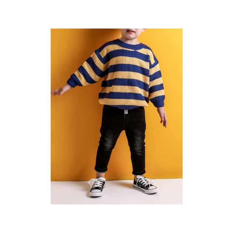 5PCS/PACK Fashion Striped Crochet Boys Kids Sweater Pullover