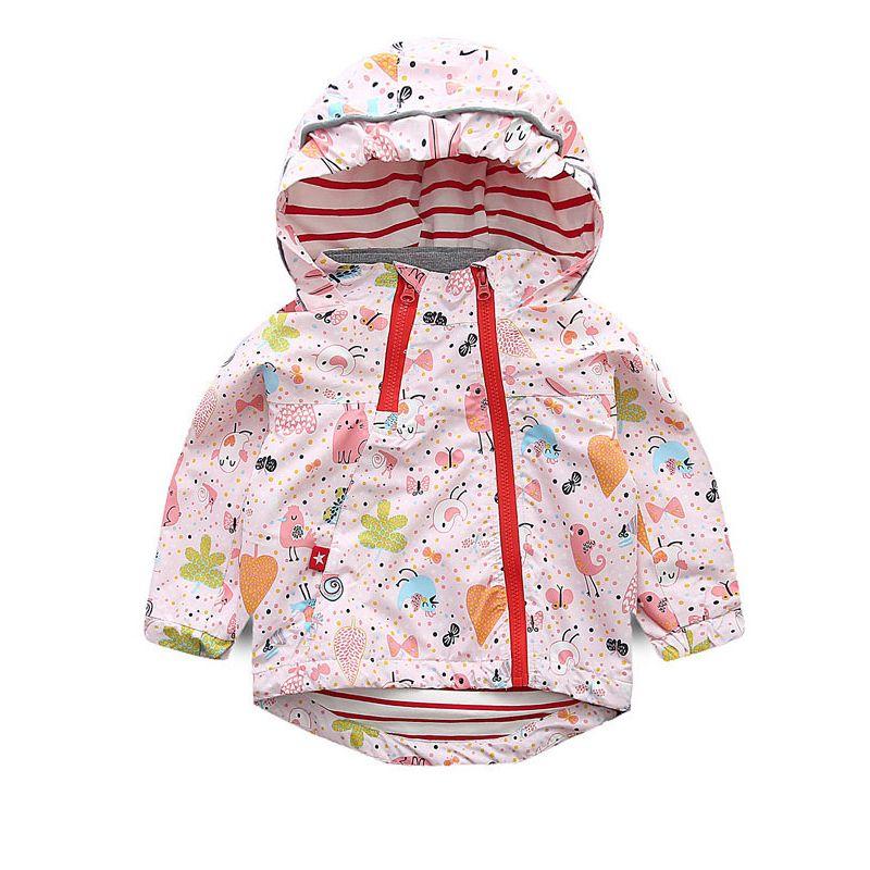 6PCS/PACK Todler Big Girls Kids Hoodie Autumn Cartoon Jacket Coat Camping Mountain Windproof Jacket Outdoor