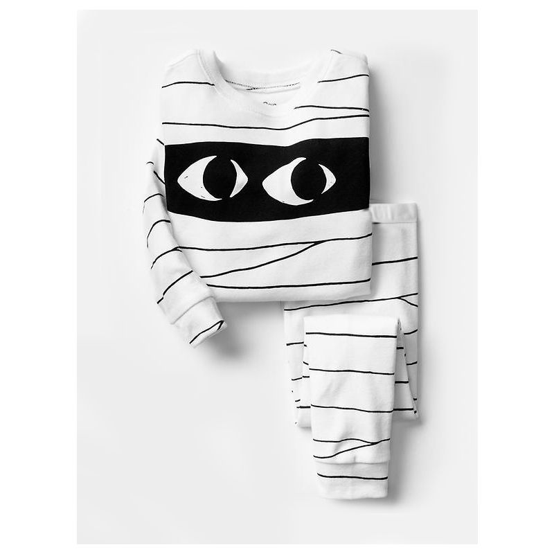 6 SETS/PACK Spring Autumn Unisex Kids Cotton Nightwear Pyjamas Set Big Eyes Pullover Tee+Striped Pants