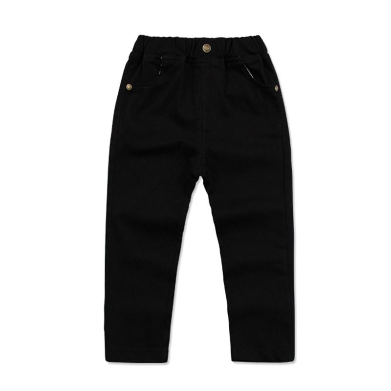 Little Big Boys Solid Color Cotton Casual Pants for Spring Autumn