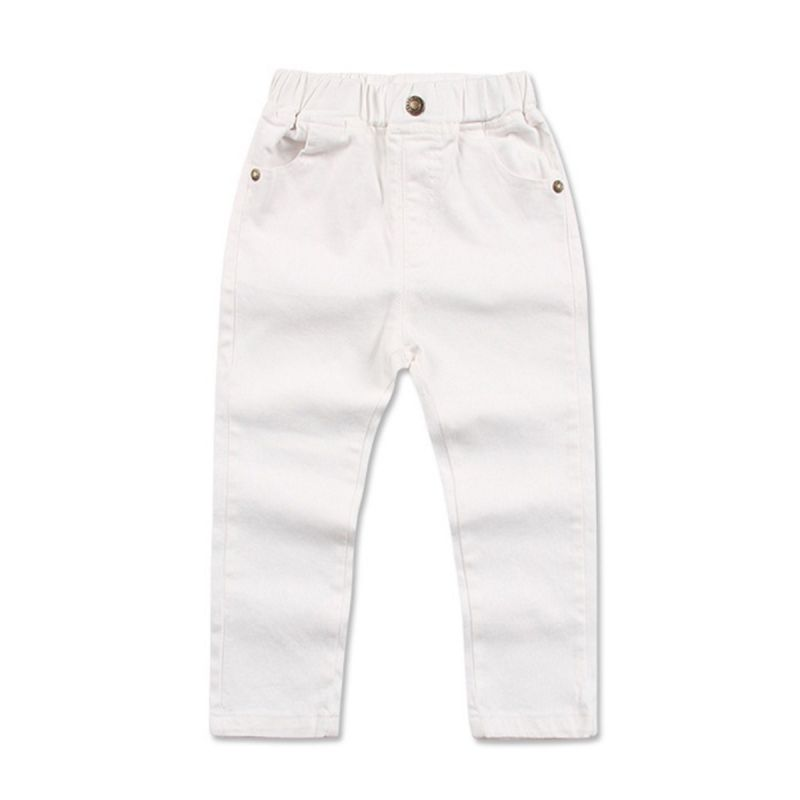 Toddler Big Boys Solid Color Cotton Leisure Pants for Spring Autumn