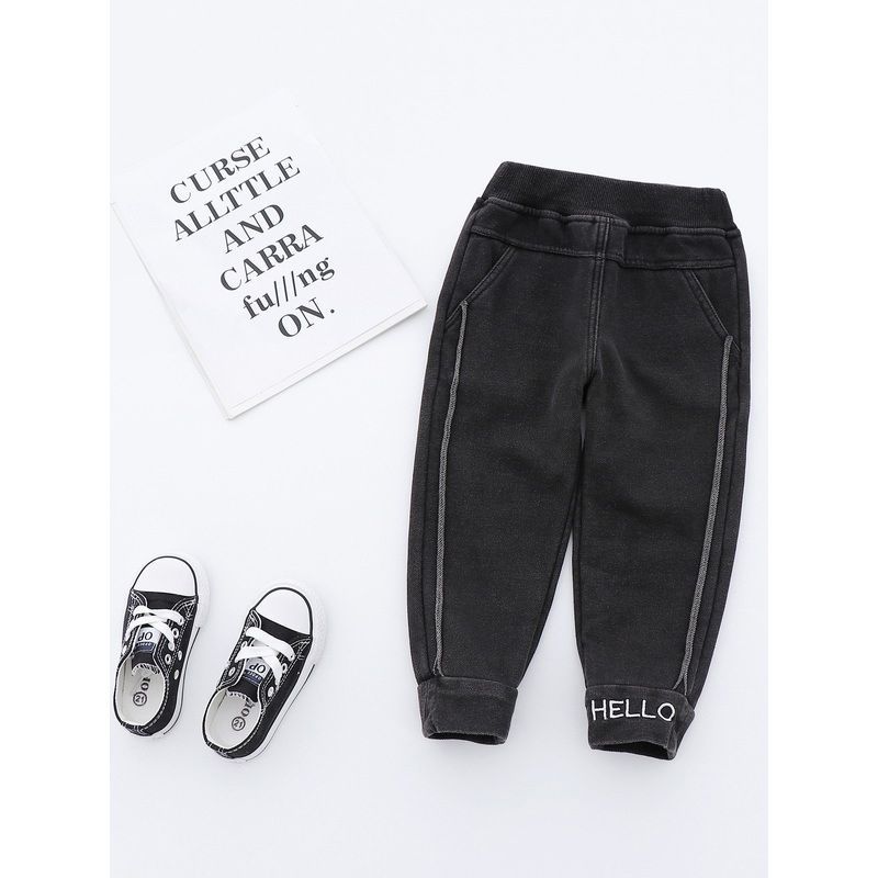 6-Pack Little Big Boys Fleece-lined Winter Casual Pants Children Thick Warm Leisure Trousers