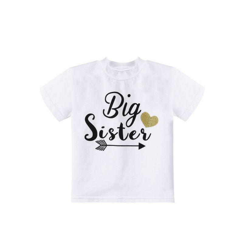 Love Heart Baby Little Girl T-shirt Summer Pullover