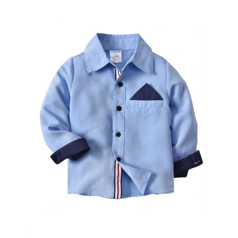 Toddler Big Boys Long Sleeve Classic Fit Plaid Oxford Shirt