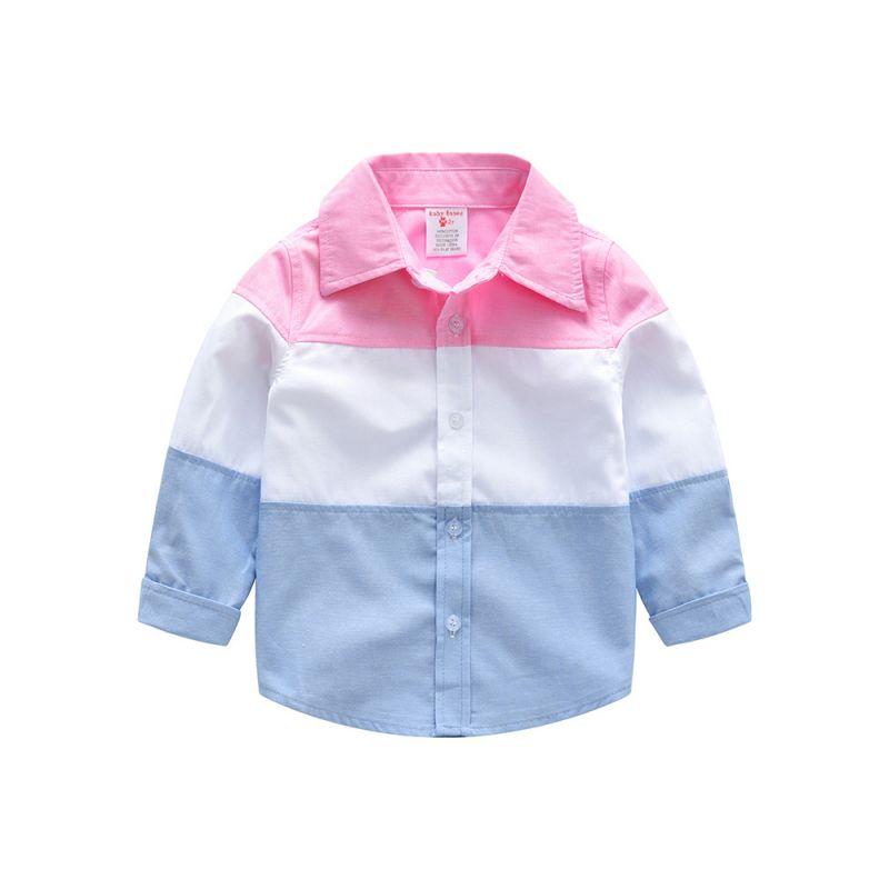 Color Blocking Toddler Big Boys Causal Shirt