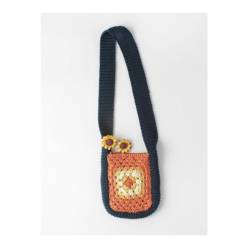 Fancy Infant Toddler Girl Vintage Hand-made Crochet Shoulder Bag