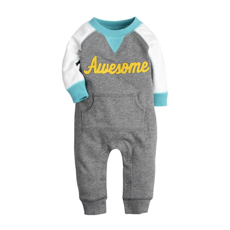 Awesome Newborn Baby Jumpsuit Overalls with Kangaroo Pocket